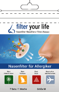 Filter Your Life® Größe M Nasenfilter