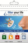 Filter Your Life® Größe M Nasenfilter