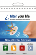 Filter Your Life® Größe L Nasenfilter